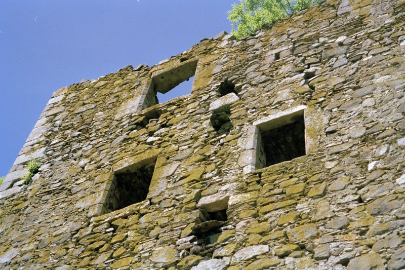 View of external face of SE side of tower