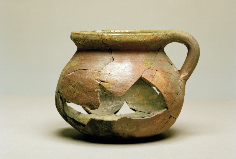 Post excavation photograph : reconstructed pottery vessel from excavations.