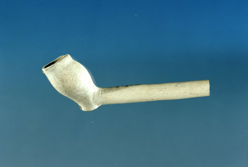 Post excavation photograph : clay pipe found during excavation.