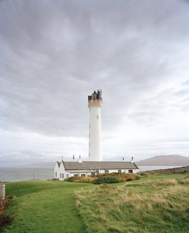 Islay, Rudh A' Mhail, Rhuvaal Lighthouse View from SW of lighthouse, with range of keepers' houses in foreground