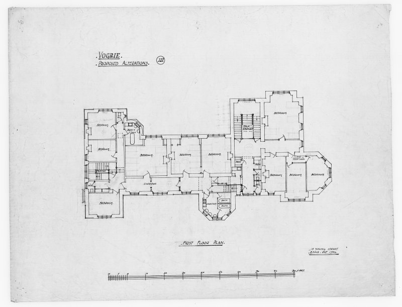 First floor plan showing alterations for Vogrie House.
