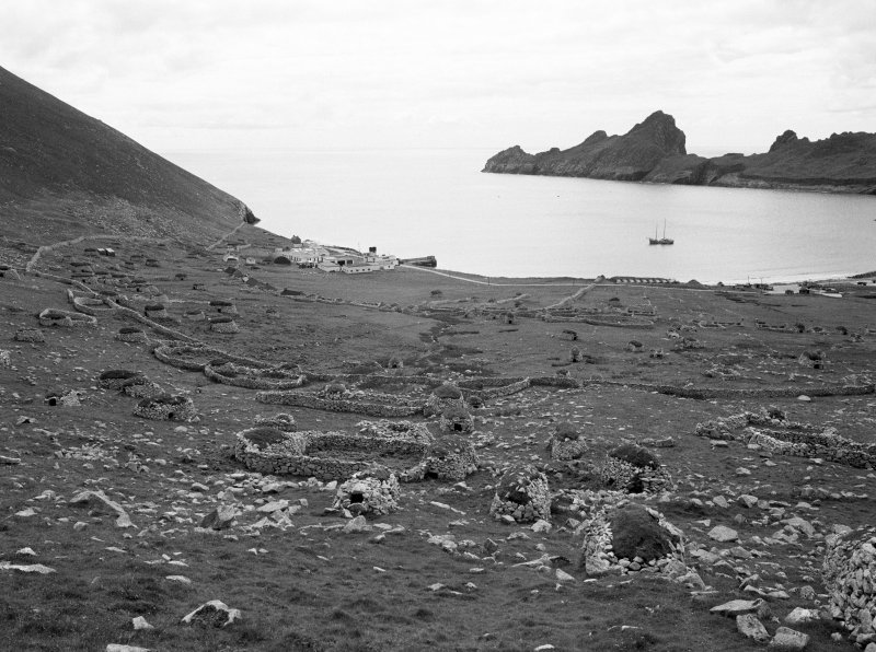 St Kilda, Village. General view towards bay including Ministry of Defence Establishment.