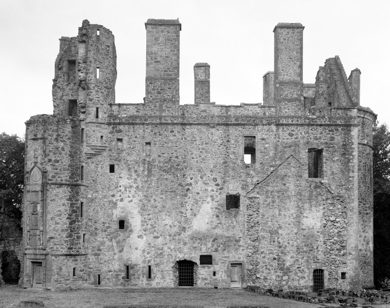 View of North front of Huntly Castle.