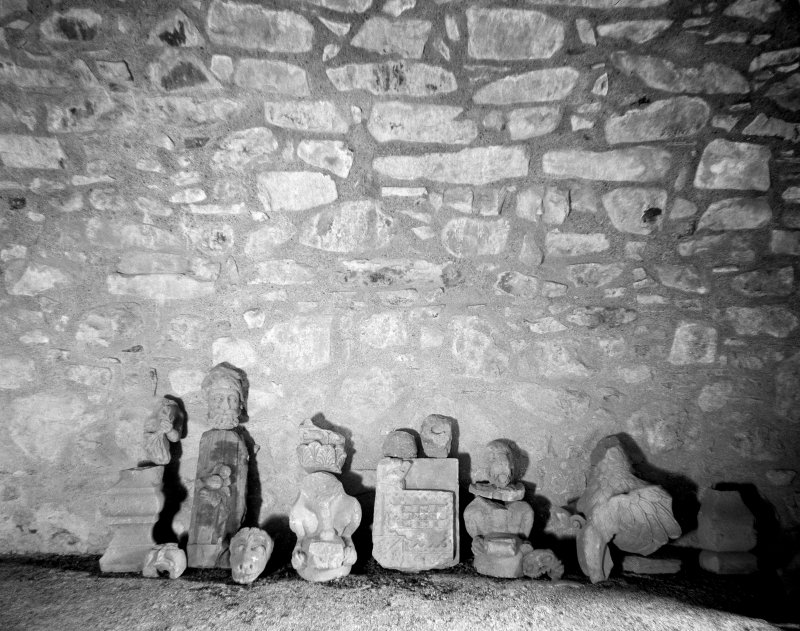 Architectural fragments at Huntly Castle.