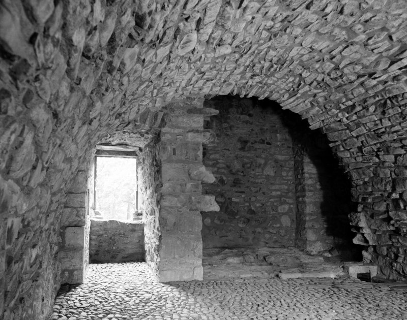 Interior view of kitchen at Huntly Castle.