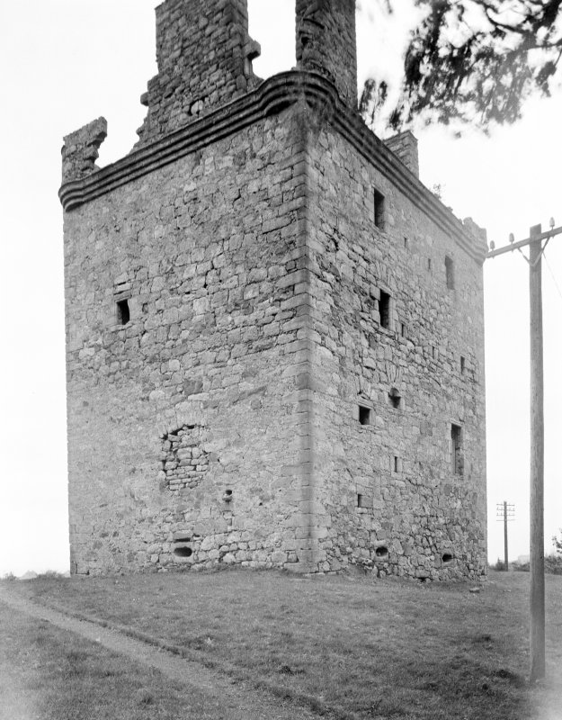 Law Castle. View from North-West.