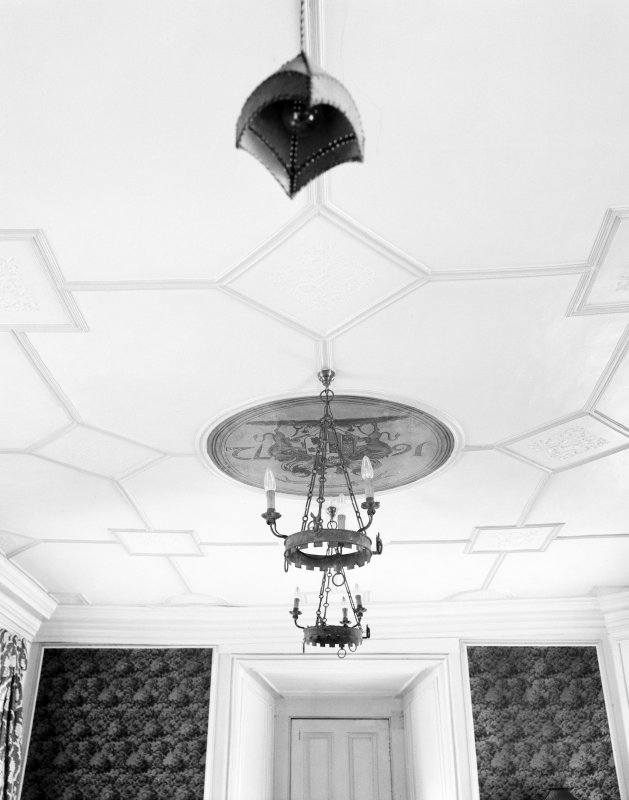 Skelmorlie Castle. Interior. Detail of ceiling in 'Old Billiard Room'.