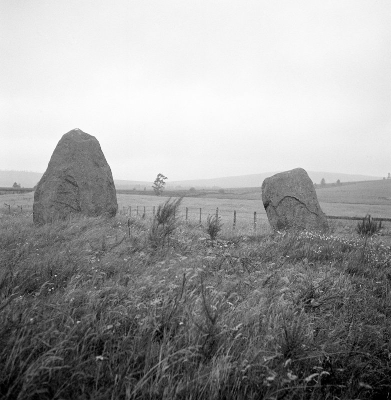 Crofthead, W of Fowlis Wester, standing stones.