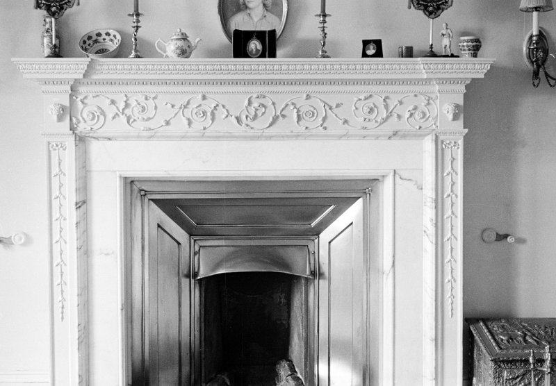 Ardpatrick House, interior. View of fireplace believed to date from 1769.