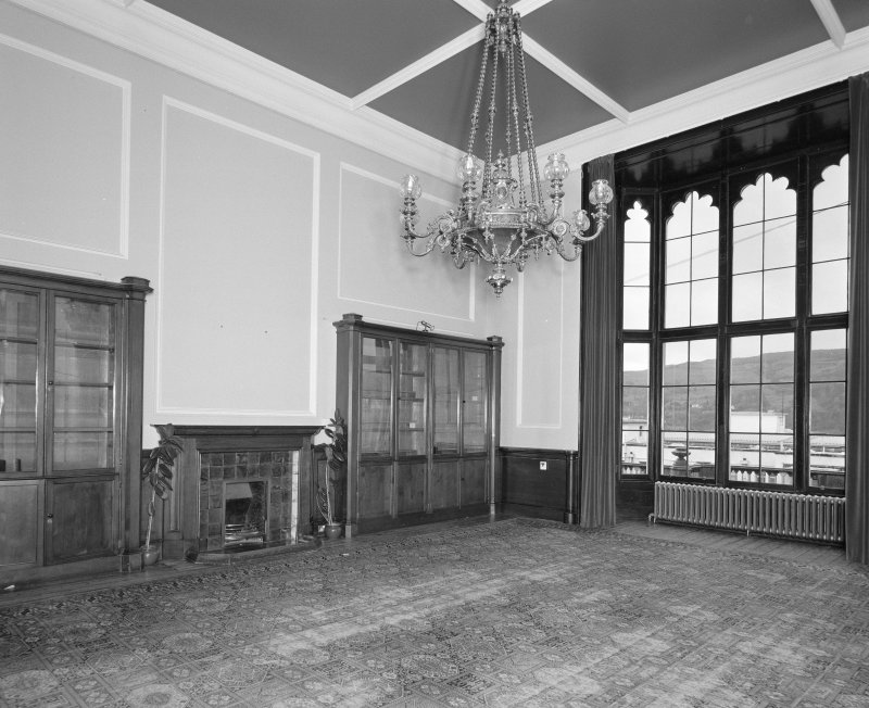 View of business room from South