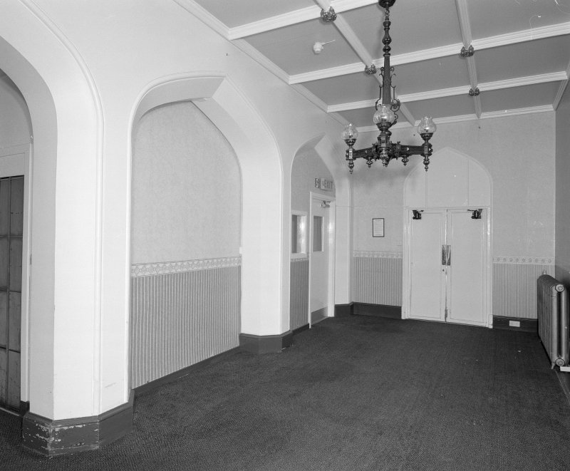 View of straicase hall at first floor level from North