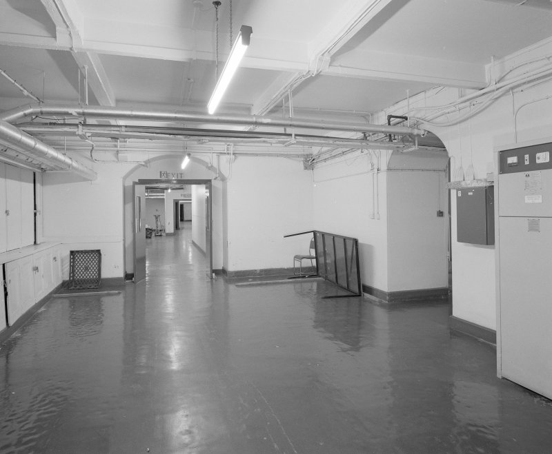 View of basement East West corridor