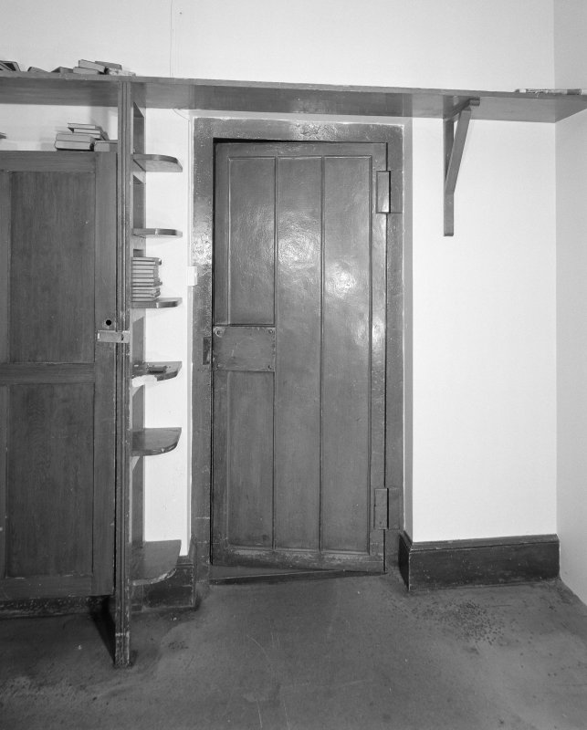 Detail of strongroom door in room off the business room
