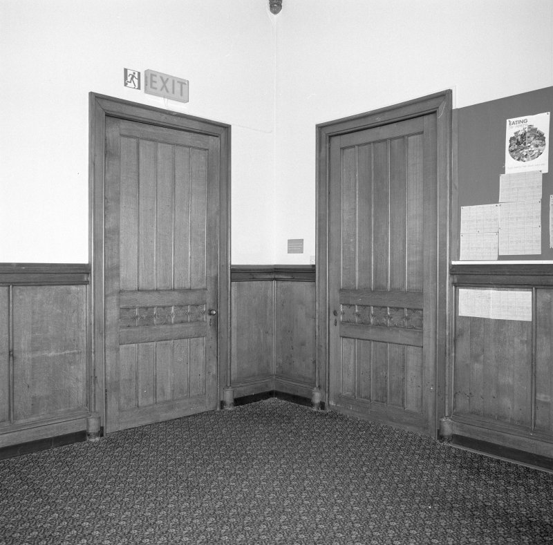 Detail of doors in the dining room
