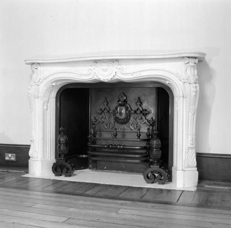 Long gallery, detail of fireplace