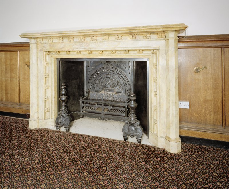 Dining room, detail of fireplace