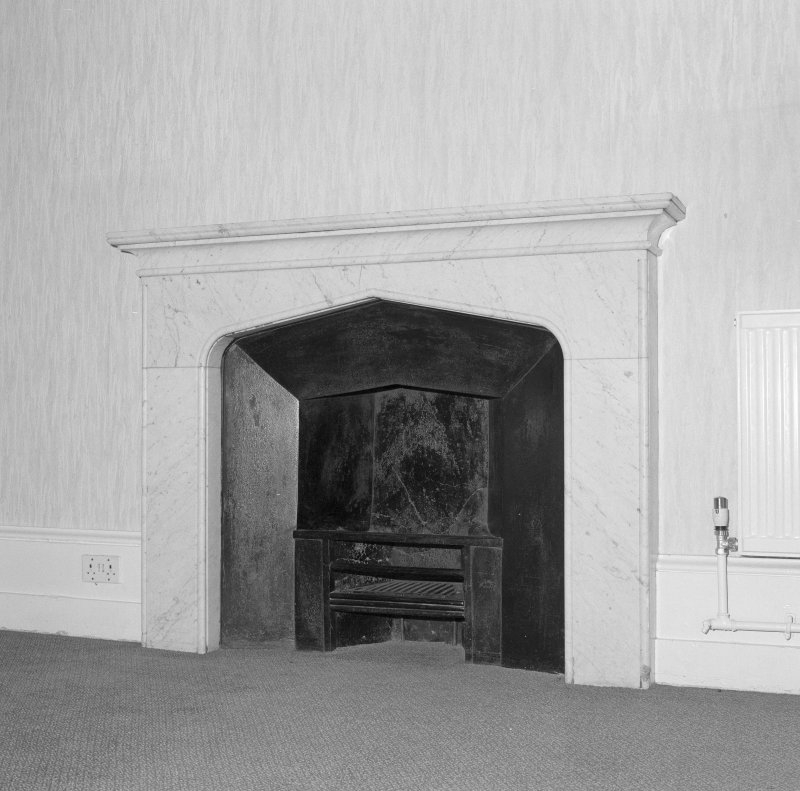 Detail of bedroom fireplace