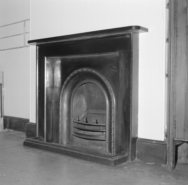 Detail of service wing fireplace