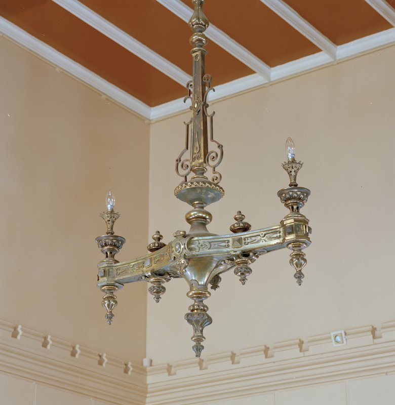 Entrance hall, detail of light fitting