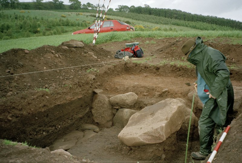 View from SW of the excavation trench; Mark Hall (Perth Museum) in picture