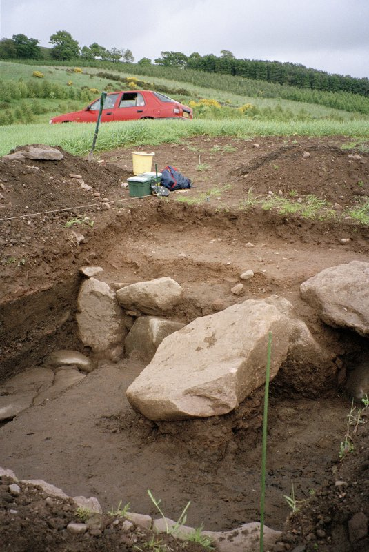 View of excavation trench from SW