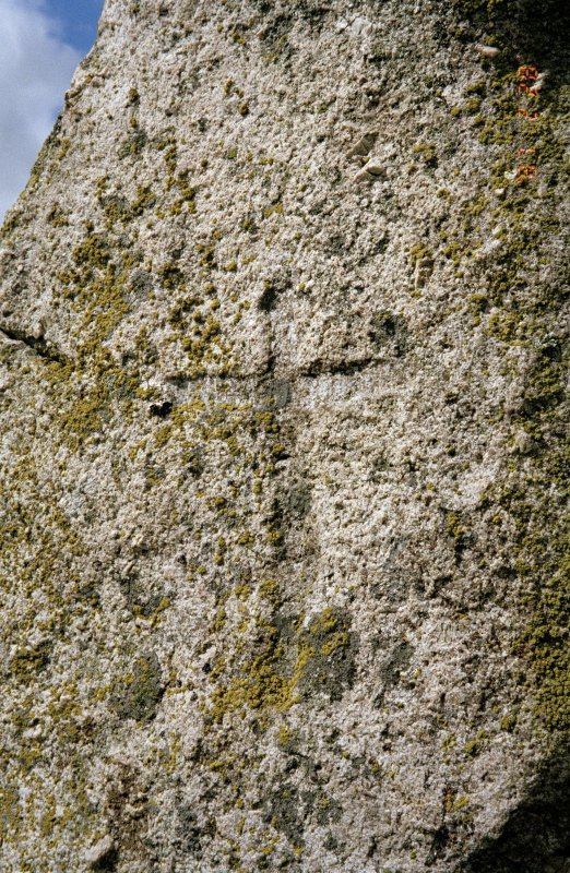 Detail of incised cross on ENE stone