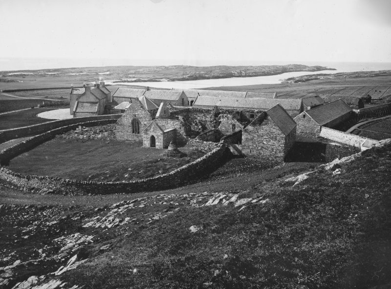 General view of Oronsay Priory from the north east.