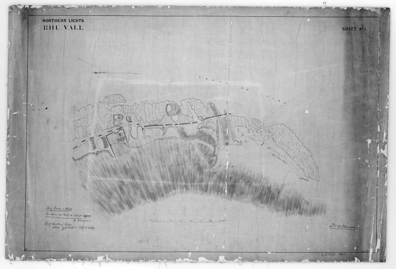 Photographic copy of map showing location of proposed  lighthouse and road. Northern Lights, sheet No.1
