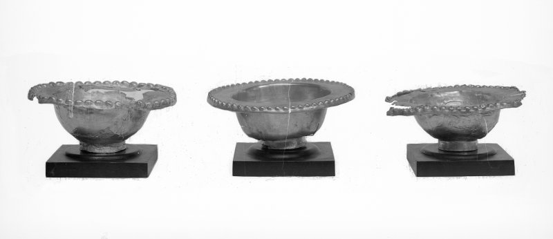 Three small bowls with beaded rims (Nos. 22 - 24)