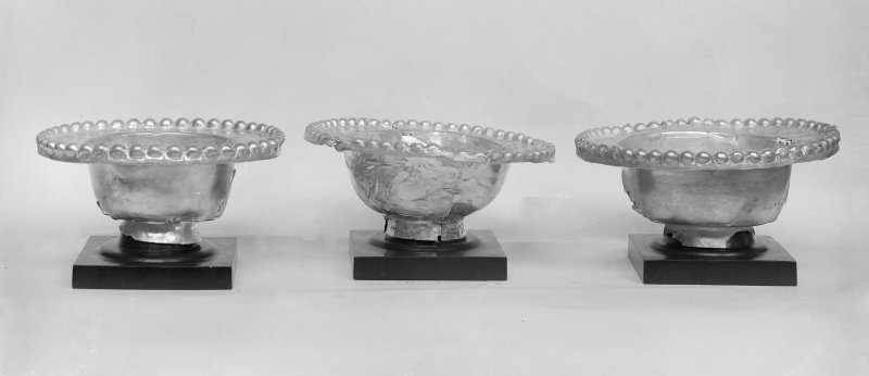 Three small bowls with beaded rims (Nos. 25 - 27)