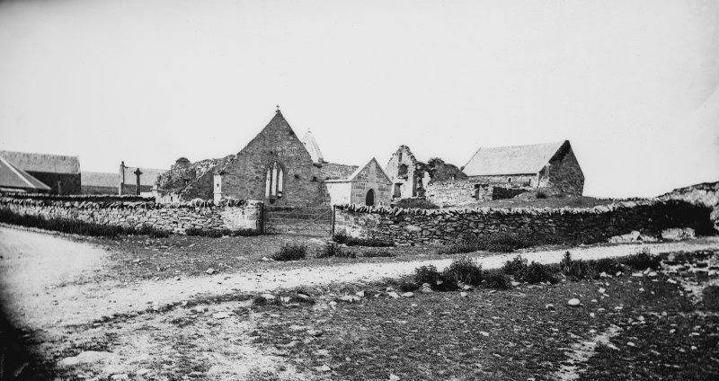 View of Oronsay Priory, taken from the SE.