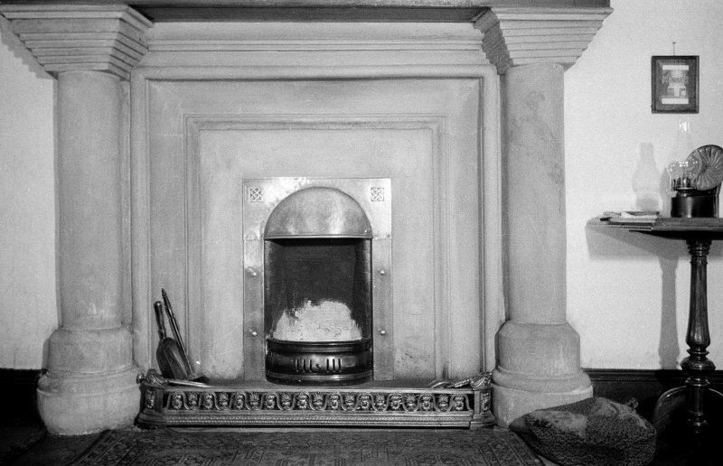 Bedlay House. Interior. View of fireplace in mid-room, second floor.