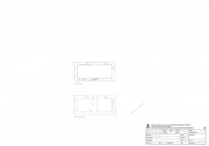 Rousay, Tafts. Ground and first floor plans, 1:100