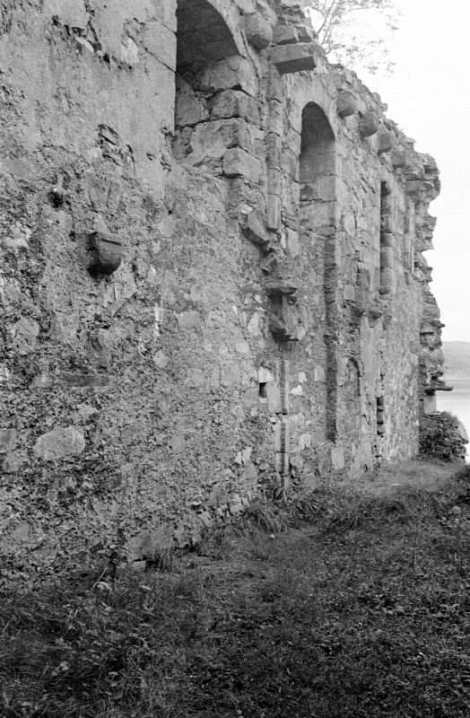 Castle Lachlan. Interior. View of S wall of first floor room in N part.