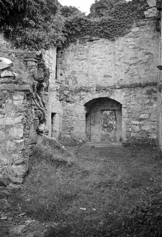 Castle Lachlan. Interior. View of first floor room in N part.