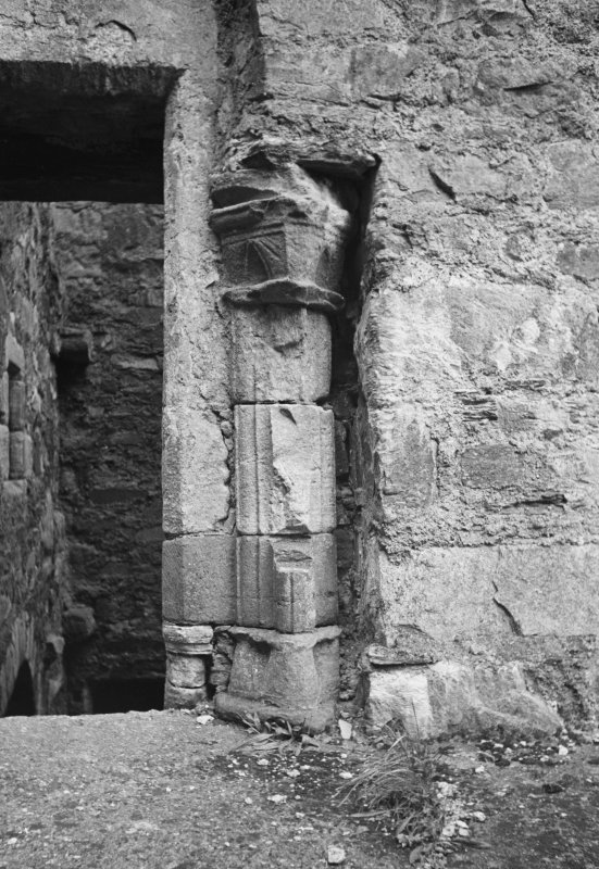 Castle Lachlan. Interior. View of fireplace jamb in first floor room.