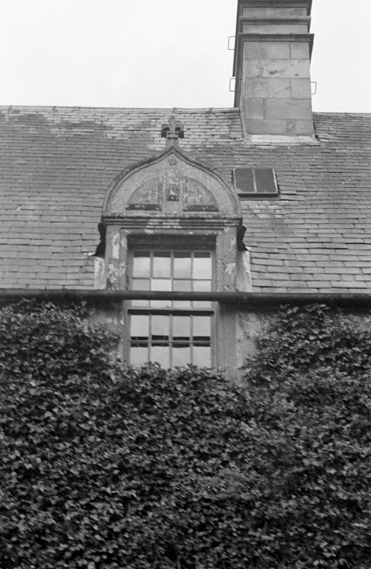 Blair Castle, Dalry. Sample detail of window in 1668 block from East.