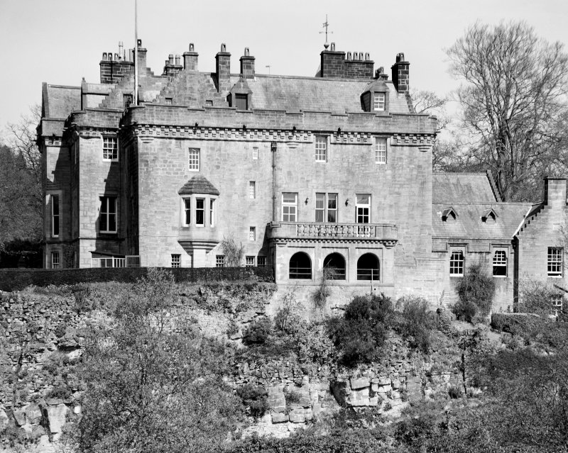 Sorn Castle. View from South-South-East.