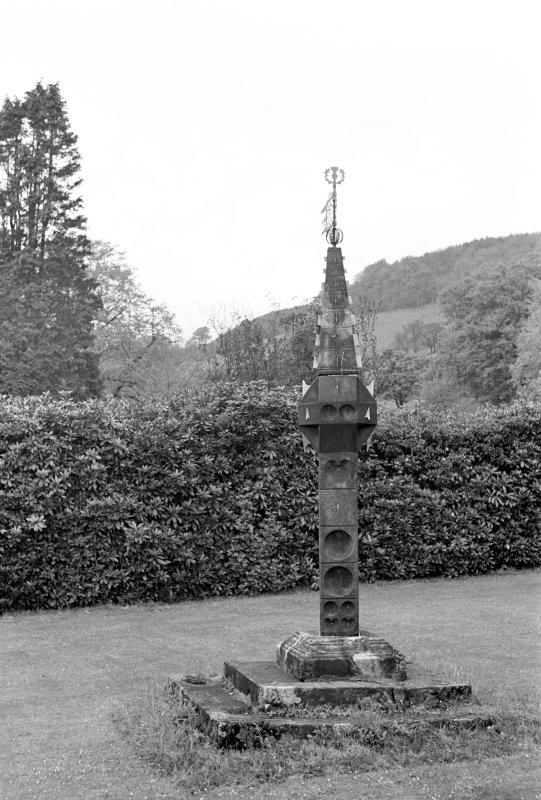 Kelburn Castle. General view of sundial.