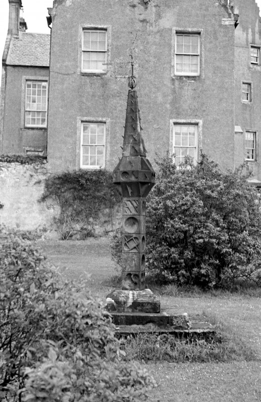 Kelburn Castle, sundial. View from West.