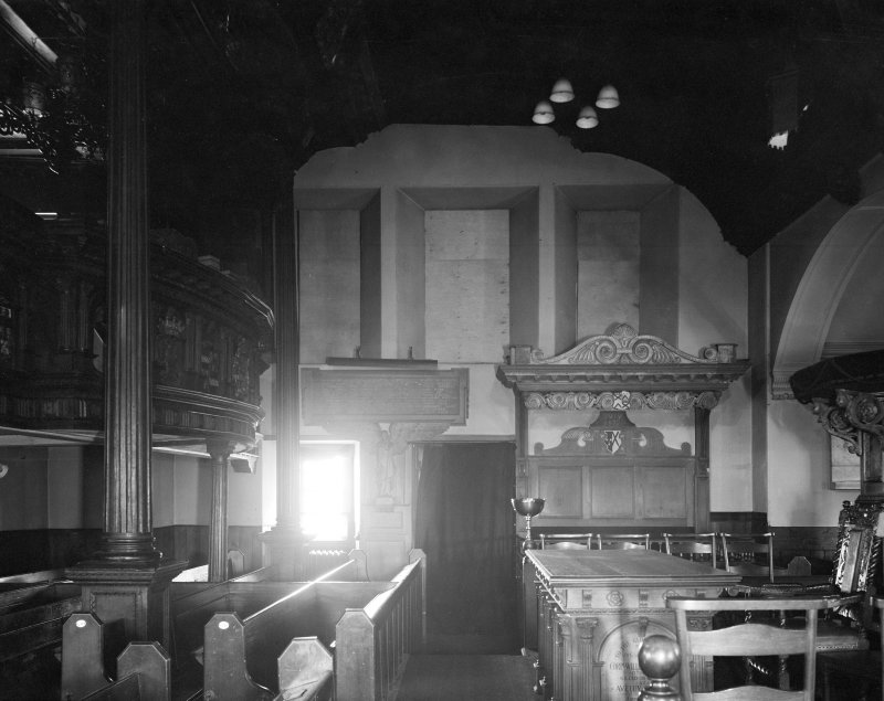Kilbirnie Church. Interior. View from West.