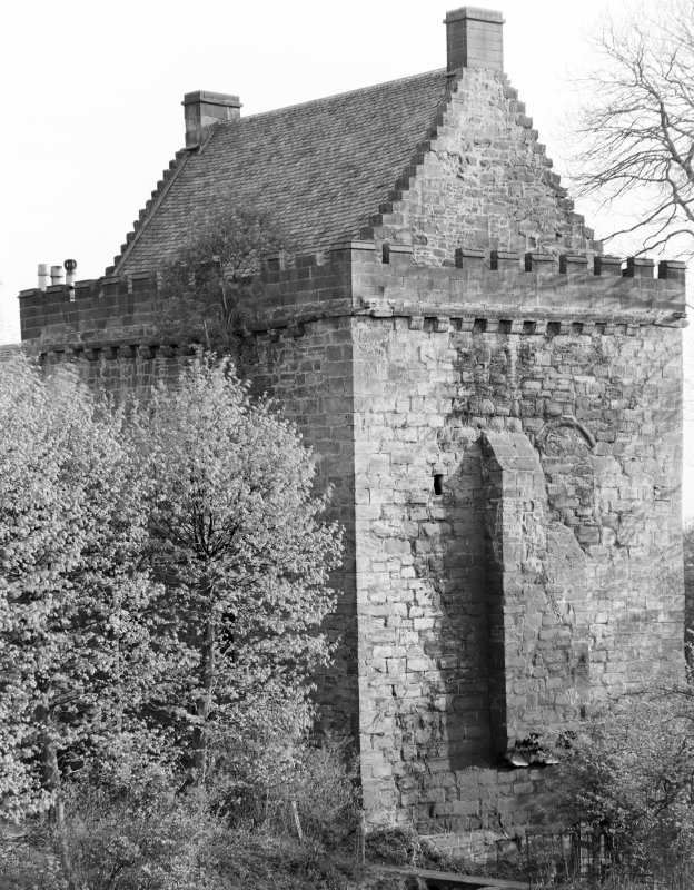 Mauchline Castle. View from North-East.
