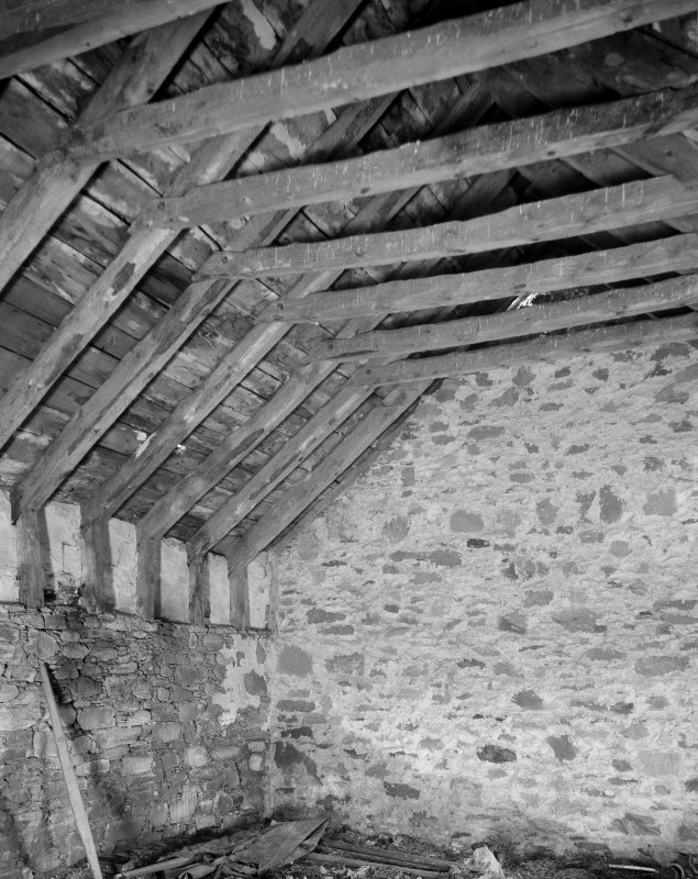 Grandtully, St Mary's Church. Roof of chamber at W end.
