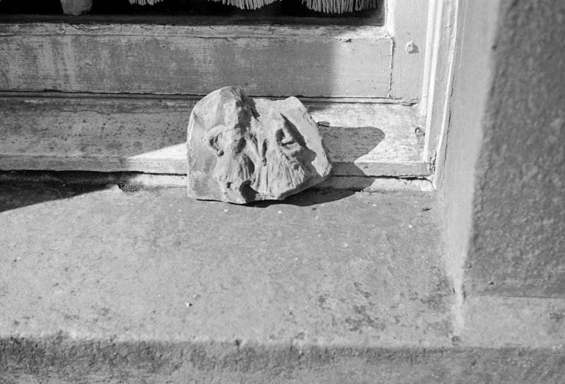 Ardlamont: clay figures at Ardlamont House (St-Ar) View of clay plaque from Newstead.