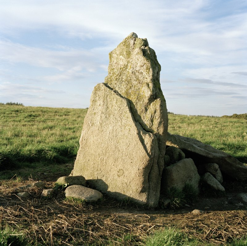 Detail of westernmost stone at Wester Echt, viewed from South.