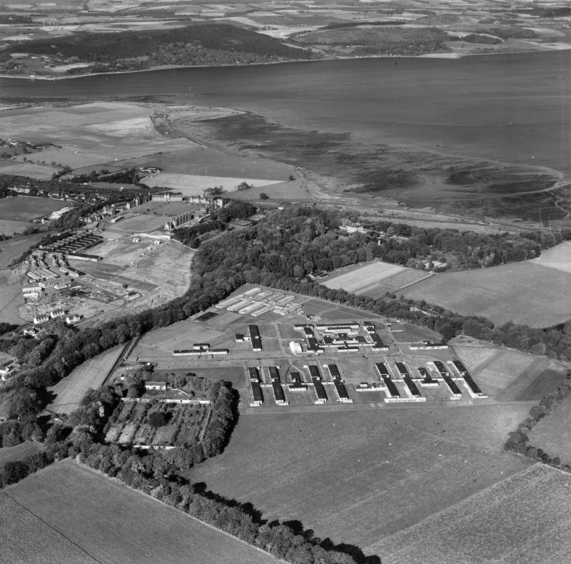 General view, Inverness, Inverness-shire, Scotland, 1948. Oblique Aerial photograph taken facing north.