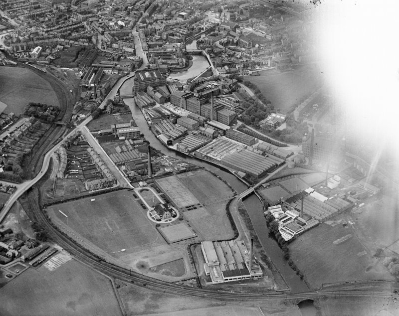 General View, Paisley, Renfrewshire, Scotland, 1929. Oblique aerial photograph taken facing north-west.