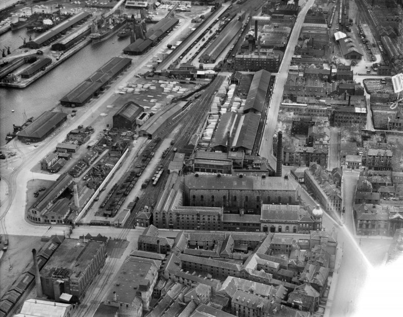 Garland Rogers Ltd, Leith. Edinburgh, Midlothian, Scotland, 1932. Oblique aerial photograph, taken facing east.