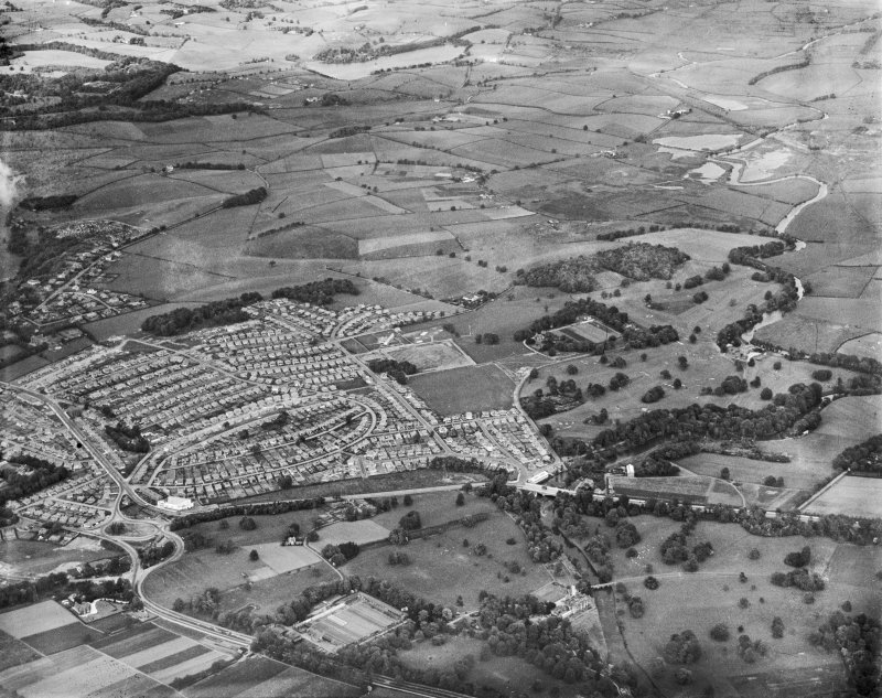 General view, Bearsden, Kessington, New Kilpatrick, Dunbartonshire, Scotland, 1937. Oblique aerial photograph, taken facing north-east.
