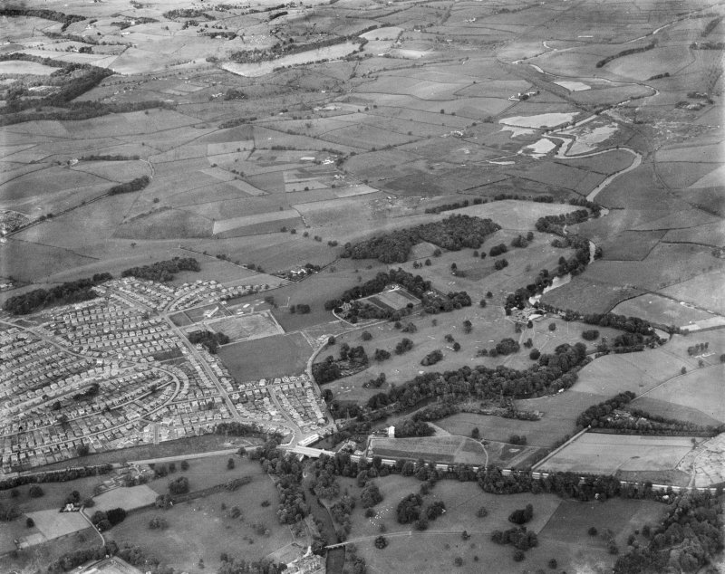 Killermont Golf Course, New Kilpatrick, Dumbartonshire, Scotland, 1937. Oblique aerial image, taken facing north-east.